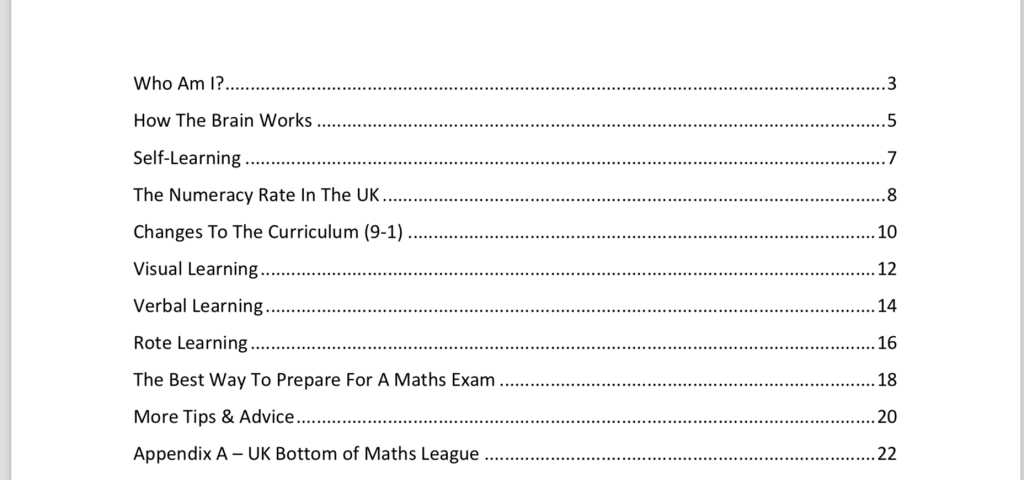 how to prepare for a maths exam